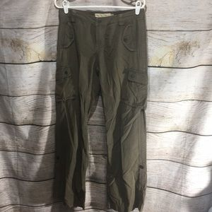 J crew Chino size 4 cargo pant army green pockets
